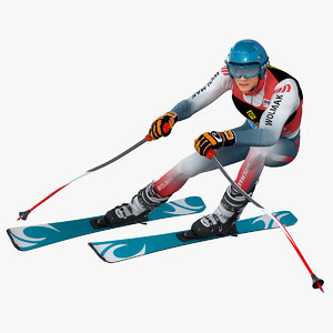 3D skier animation model