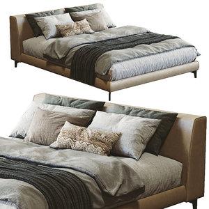 meridiani louis bed 3D