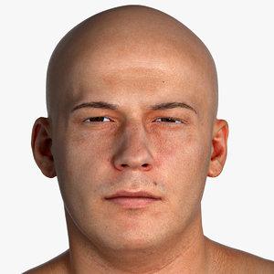 3D pbr marcus real human head
