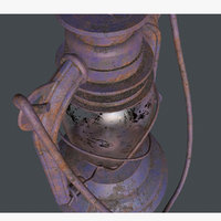 OLd Rusty Storm Lantern