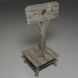 medieval pillory 3D model
