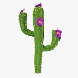 3D cartoon cactus v01 model
