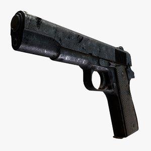 remington rand 1911 prop 3D model