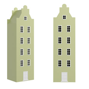 3D children s wardrobe house model