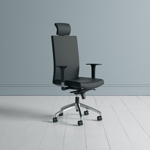 3D office chair managers seating model