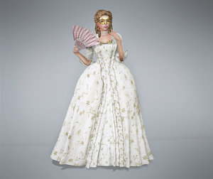 robe la francaise victorian 3D model