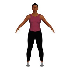 adult indian woman yoga 3D