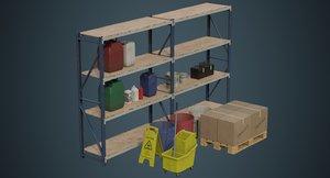 industrial props bottles 1b 3D