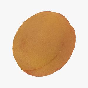 apricot small 04 raw 3D model