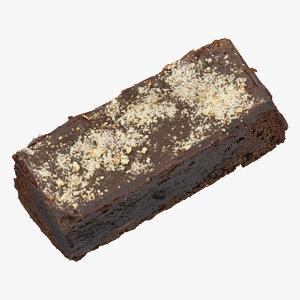 brownie cake 01 raw 3D model