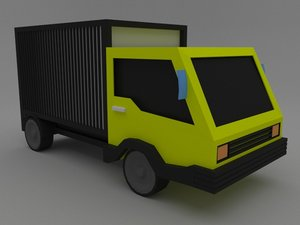 3D low-poly truck