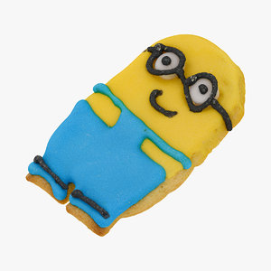 3D minion cookie 02 raw model