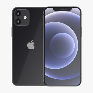 iphone 12 black phone 3D model