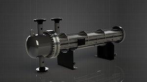 3D shell - tube heat