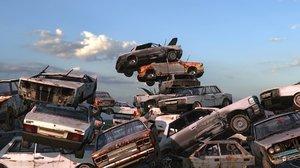 3D dumpcars model