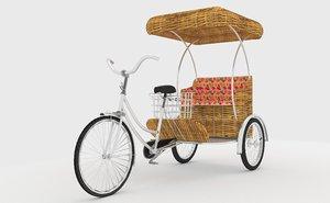 bike rickshaw 2 v2 3D model