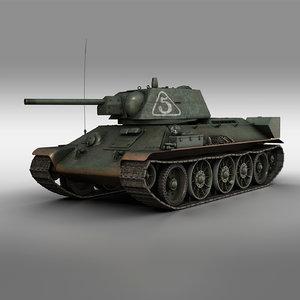 3D t-34-76 - 1942 soviet