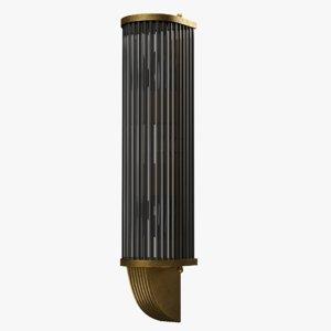 art deco style brass 3D model