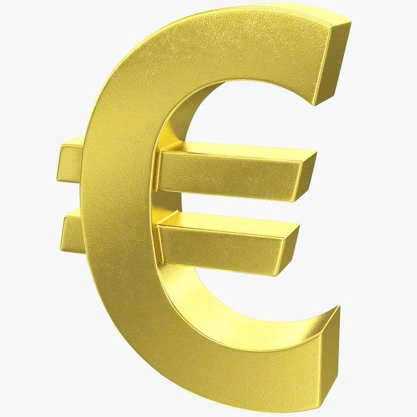 symbol euro 3D model