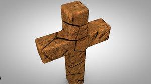 rocky stone cross 3D model