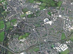 3D cityscape oxford england city