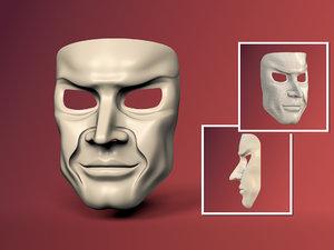 3D hero mask original design