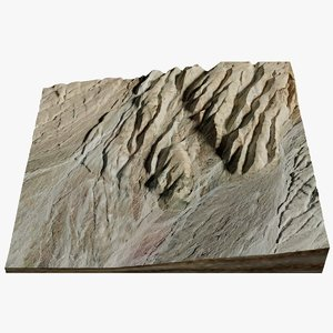 3D model terrain death valley desert