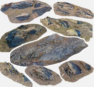 3D scan bpr rock model