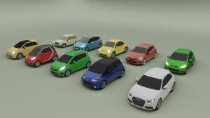 10 mini cars a1 3D