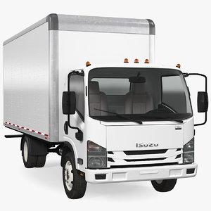 box truck isuzu npr 3D model