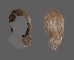 3D plait realtime hair