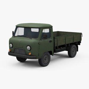 mid-poly uaz 452d van 3D model