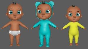 3D baby child boy model
