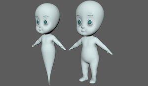 ghost cartoon 3D