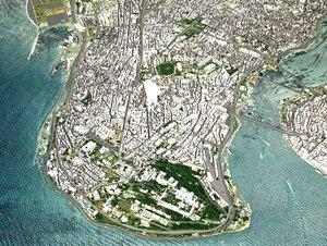 cityscape istanbul city turkey 3D model