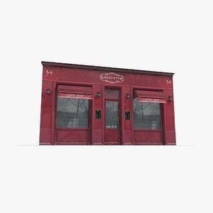 cafe facade 3D model