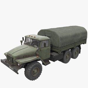 ural 4320 truck 3D