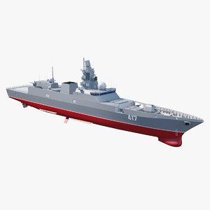 3D admiral gorshkov class frigate