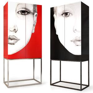 wardrobe sideboard mhliving 3D model