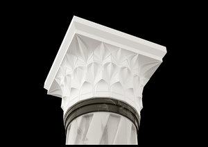3D model column architecture