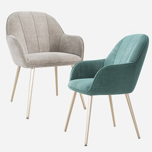 3D upholstered dining chair wayfair