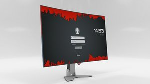3D designed computer monitor screen