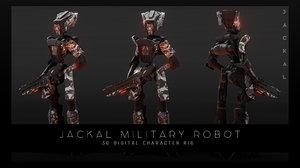 3D sci-fi jackal robot model