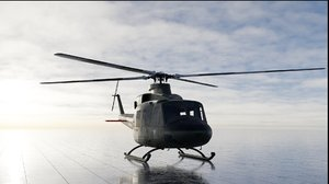 bell 412 helicopter 3D