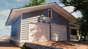 3D blender house garage classic