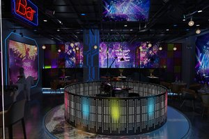 bar interior decoration design model