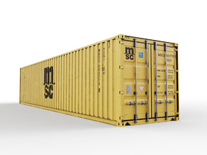 shipping container msc 40 3D model