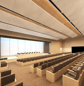3D assembly concert hall model