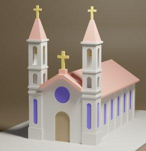 church cartoon 3D model