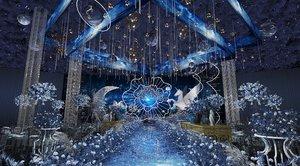 3D luxury wedding stage model